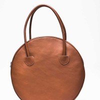 Dark Pumpkin, Genuine Leather Small Circle Bag A14431
