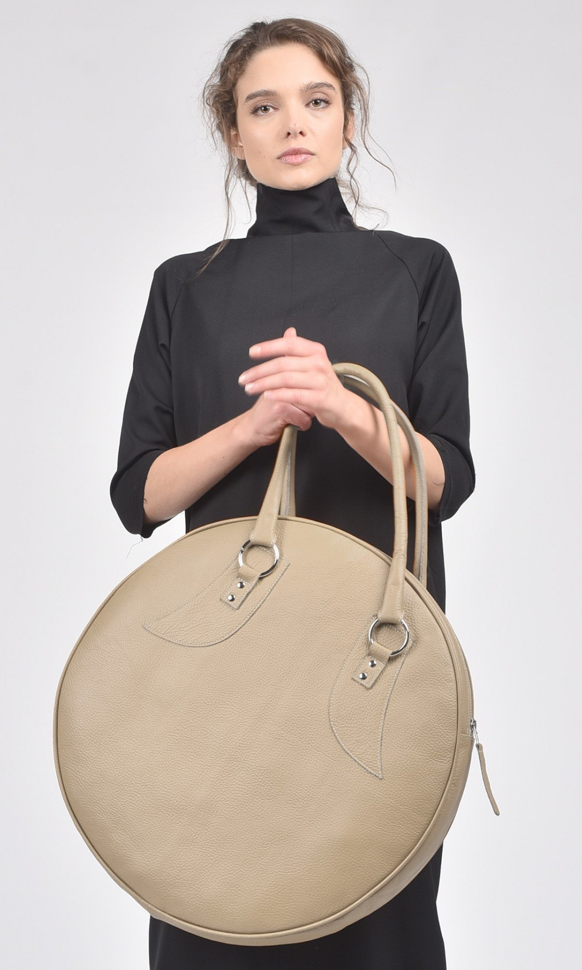 Genuine Leather Small Circle Bag A14431