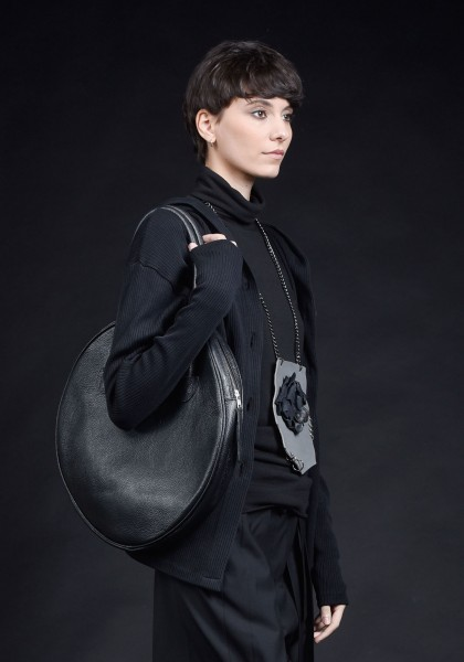 \Genuine Leather Small Circle Bag A14431