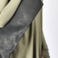 Small Extravagant Genuine Leather Croco Bag A14749