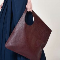 Large Extravagant Dark Burgundy genuine leather Bag A14176