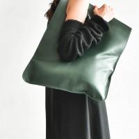 Small Extravagant Dark Green Bag A14478