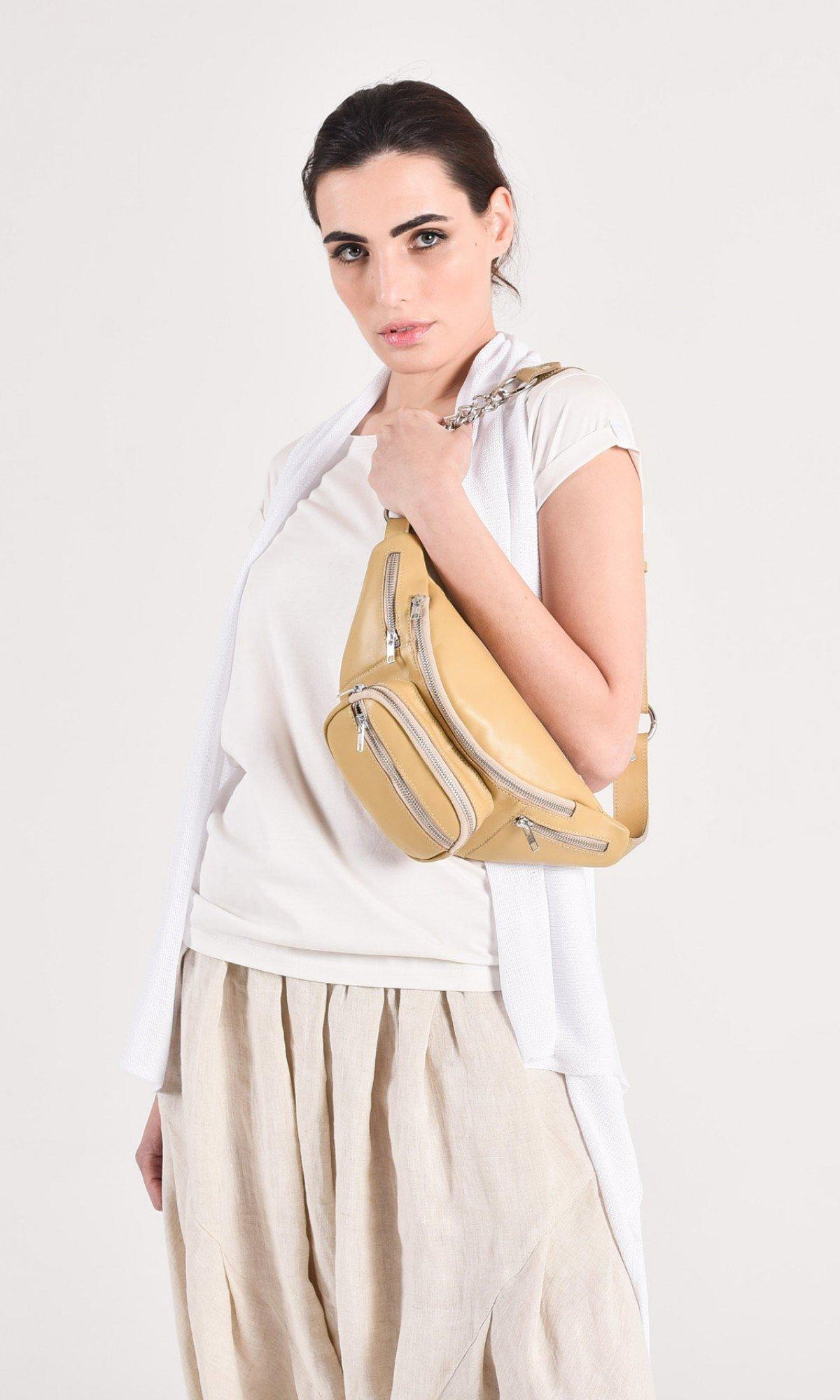 Genuine leather Bum Bag / Fanny Bag A14748