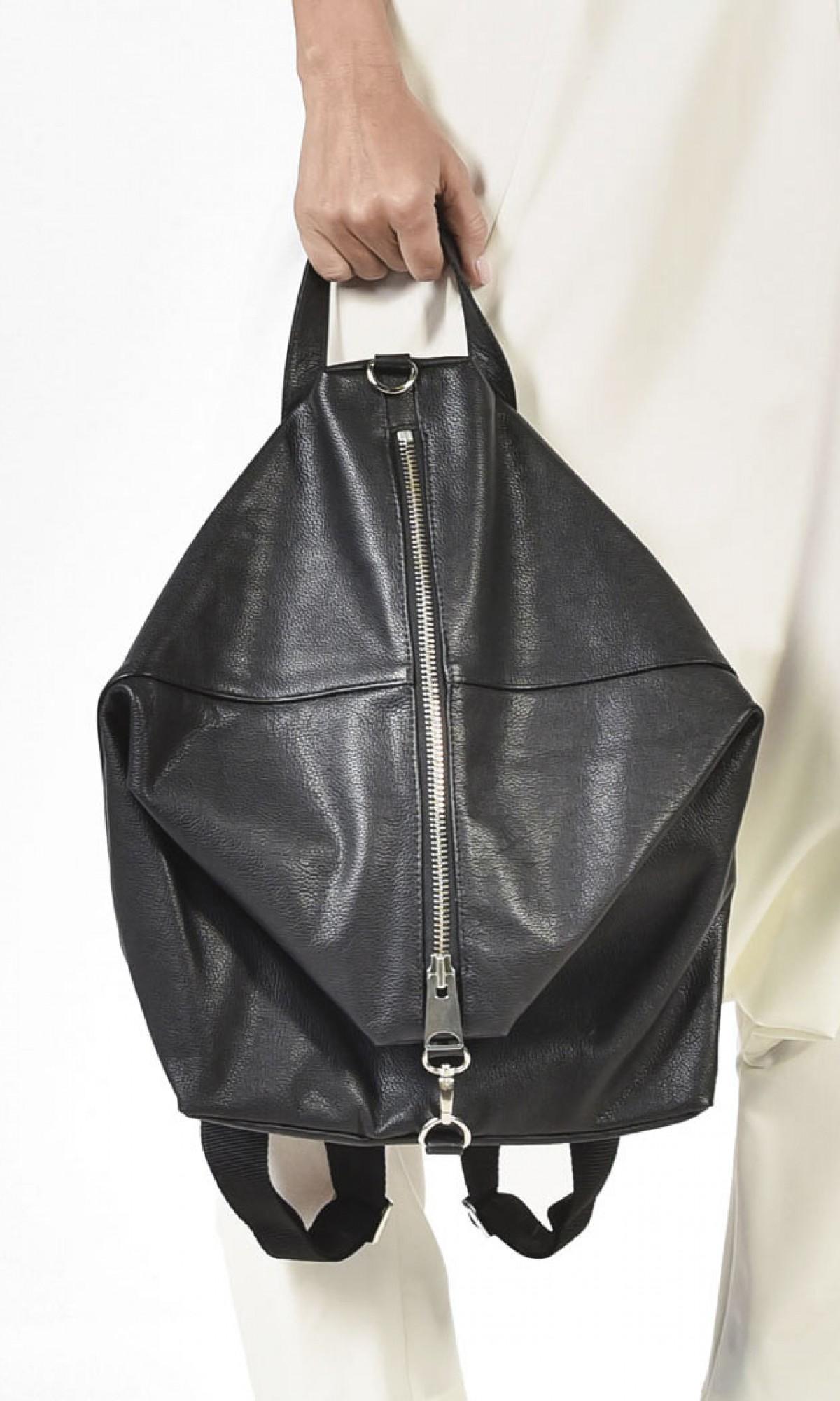 Genuine Leather Black  Backpack A27472