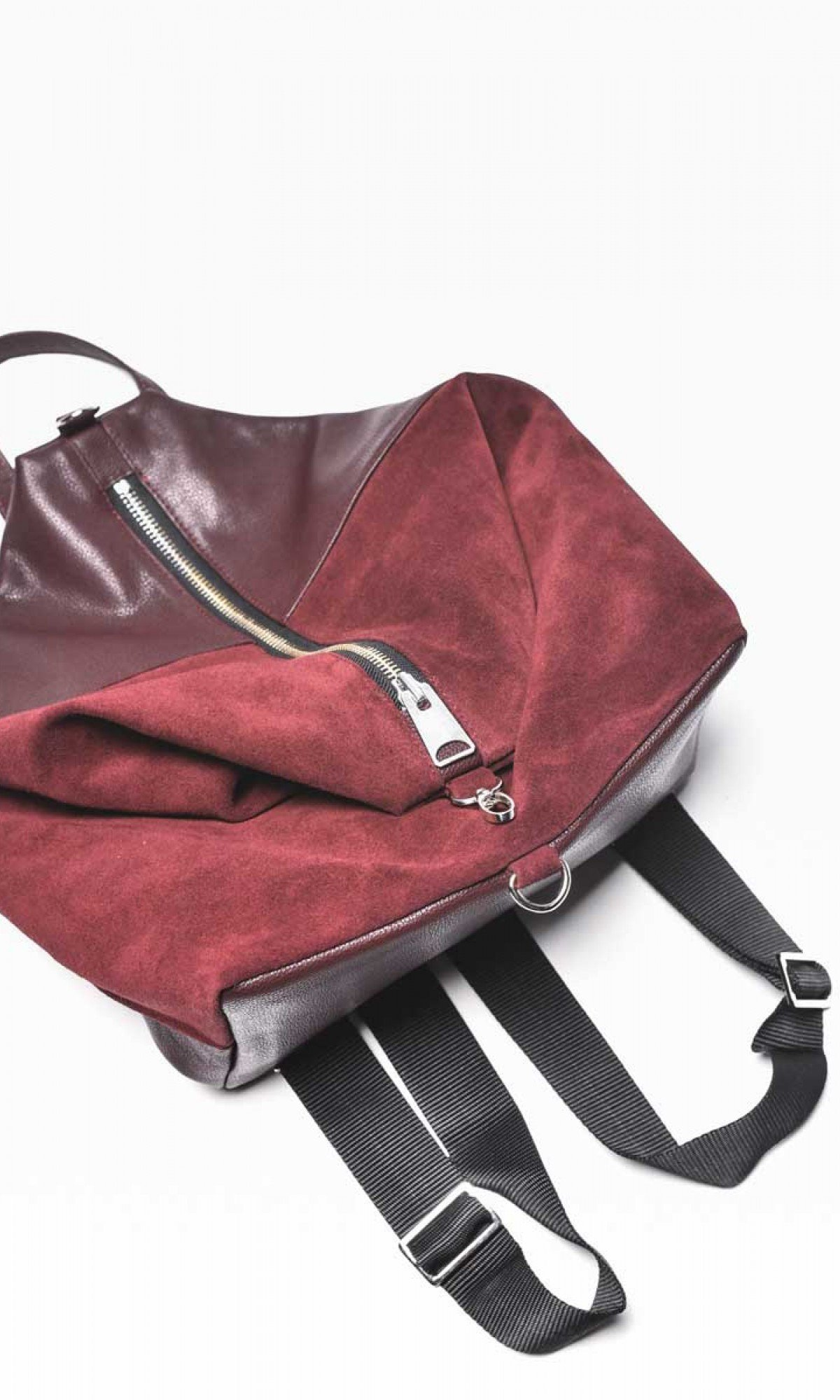 Genuine Leather and Suede  Backpack A27473