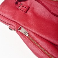 Genuine Leather Backpack with metal chain A27693