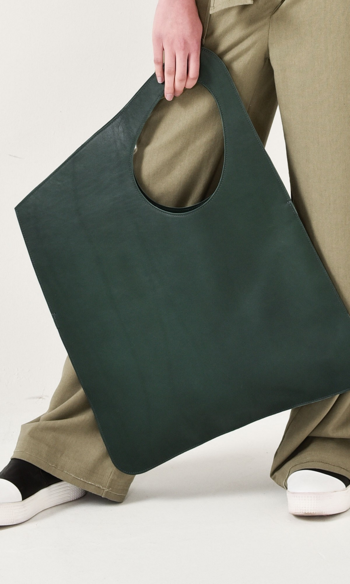 Small Extravagant Genuine Leather Green Bag A14478