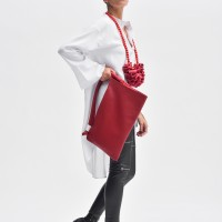 Small Leather Side Handle Shopper Bag A90430