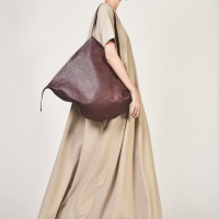 Bags - Oversize Genuine Leather Shopper Bag A14448