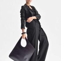 Small Extravagant Croco Genuine Leather Bag A14478