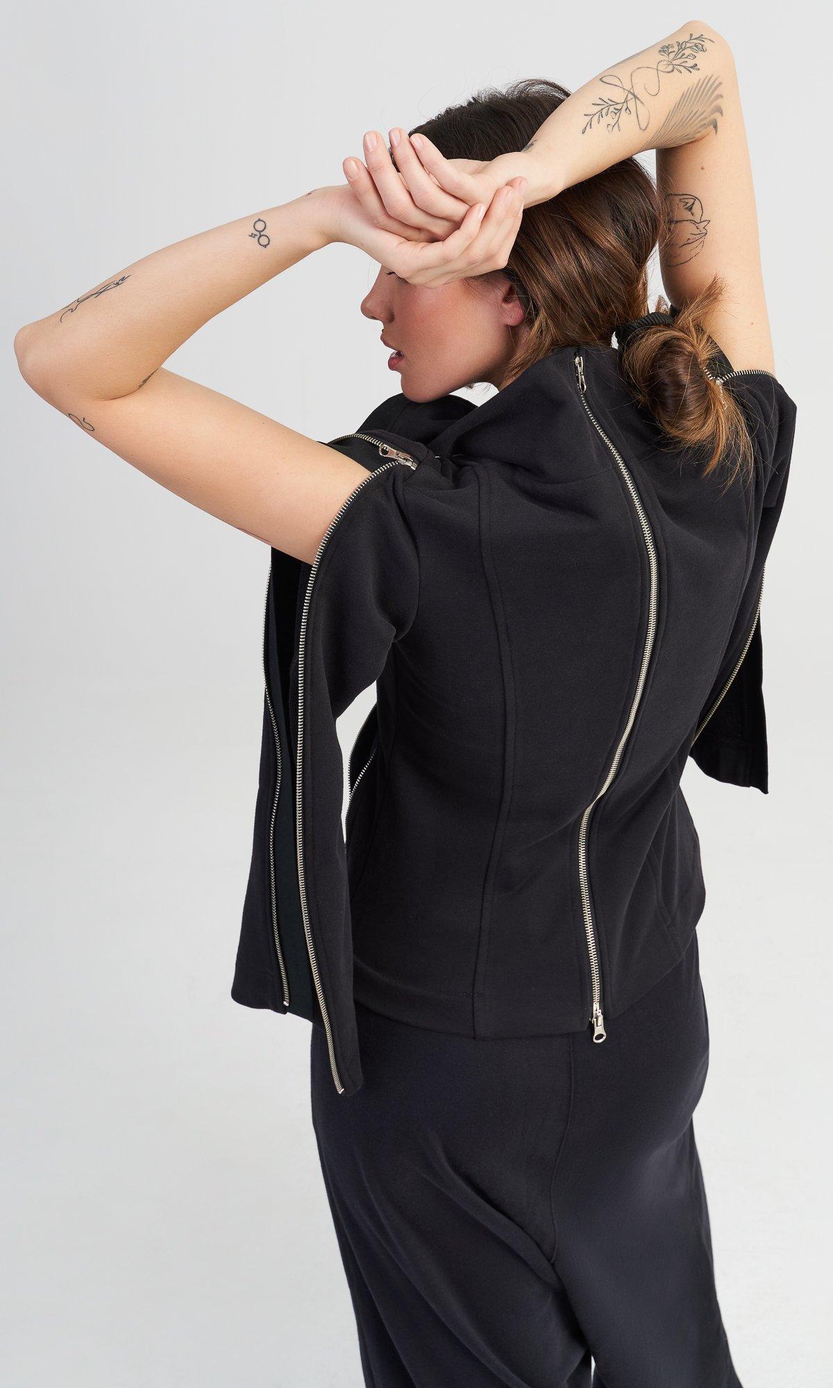 Short Multi Zipper Blazer