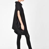 Loose Asymmetrical Black Top A12072