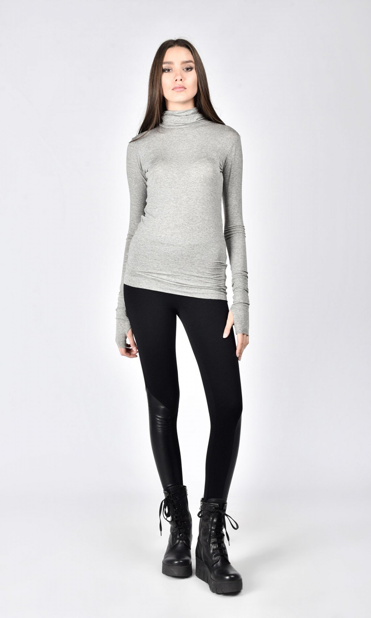 Sexy Cotton Turtle neck top A90586