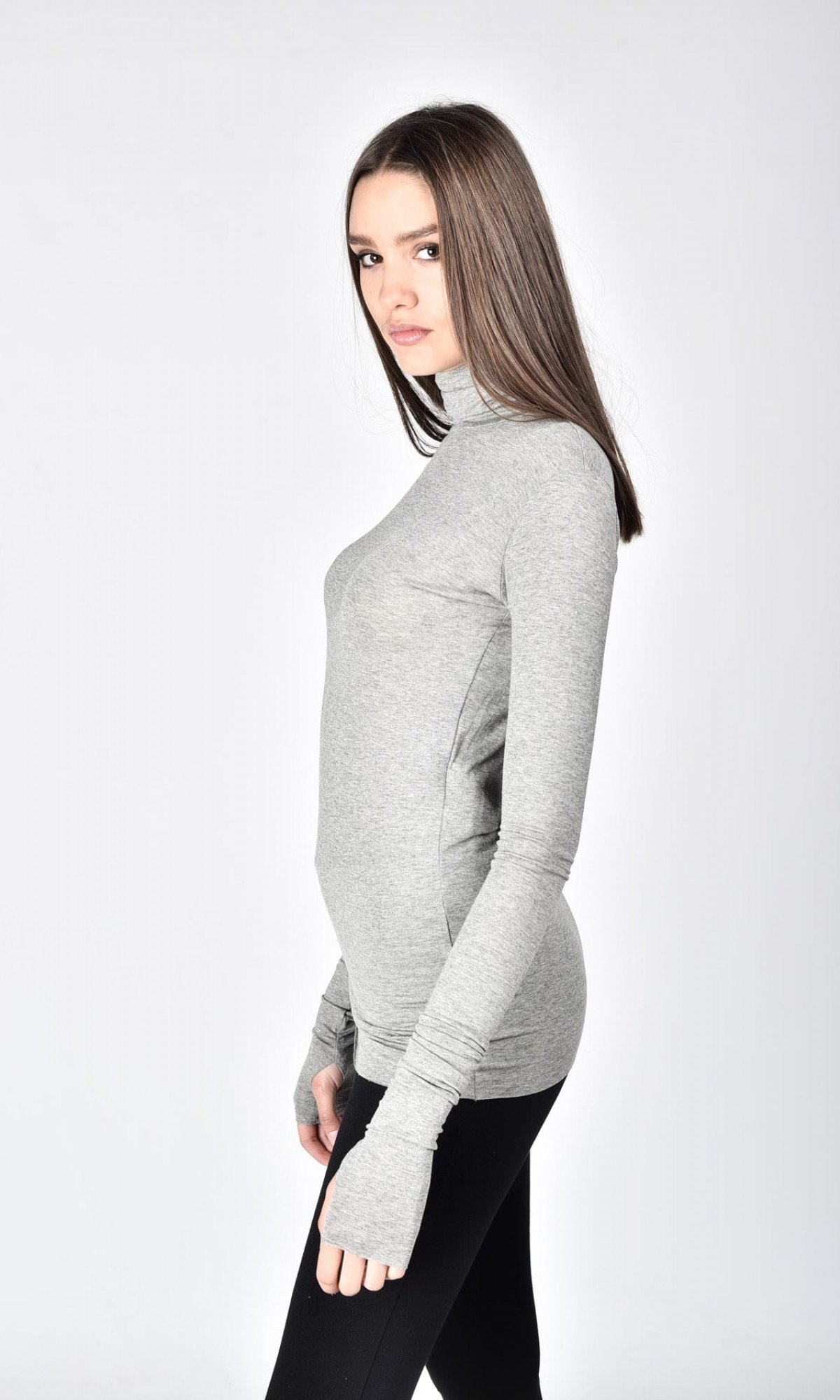 Sexy Cotton Turtle neck top A12892