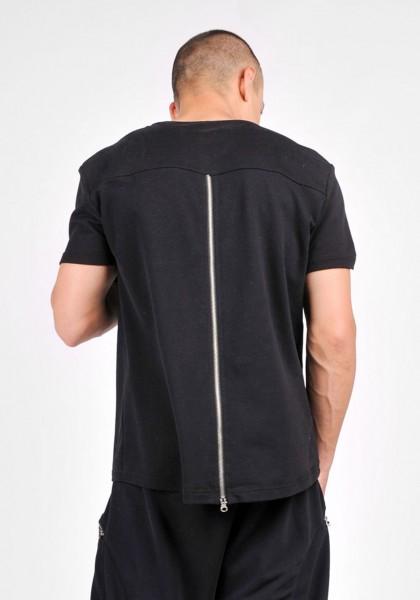 Black Top with Back Zipper A12564M