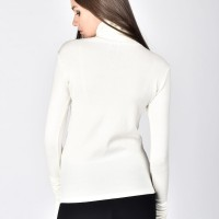 Knitted turtle neck top A12710