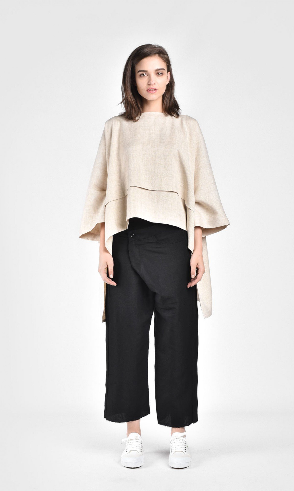 Floaty Butterfly Sleeves Linen Blouse