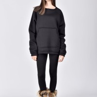 Front Pocket Warm Sweatshirt A90164
