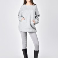Front Pocket Warm Sweatshirt A12770