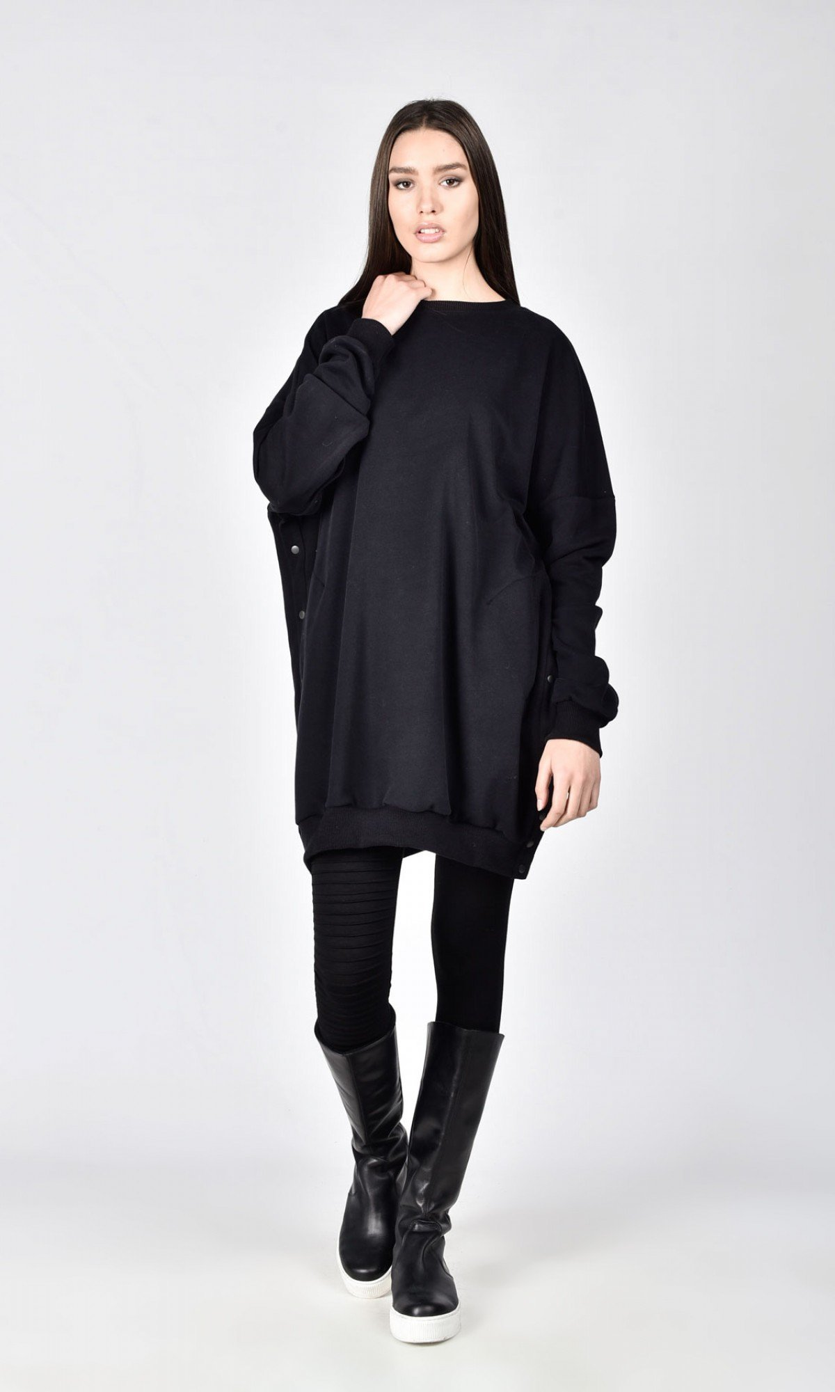 Extra Long Maxi Buttoned Blouse A08781
