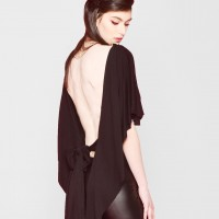 Sexy Open Back Blouse A12769