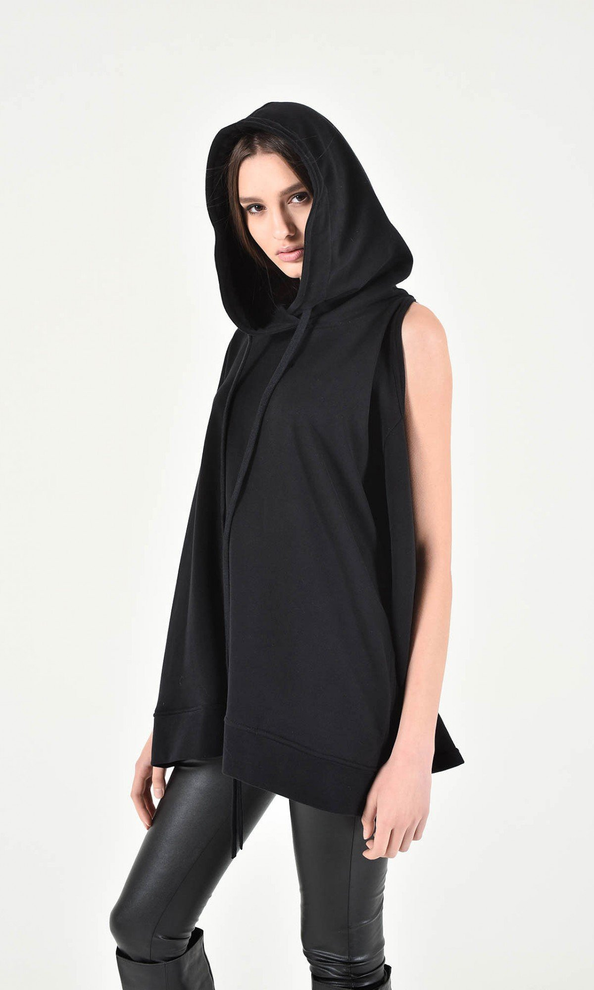 Extravagant Open Shoulder Hooded Sweatshirt A90228