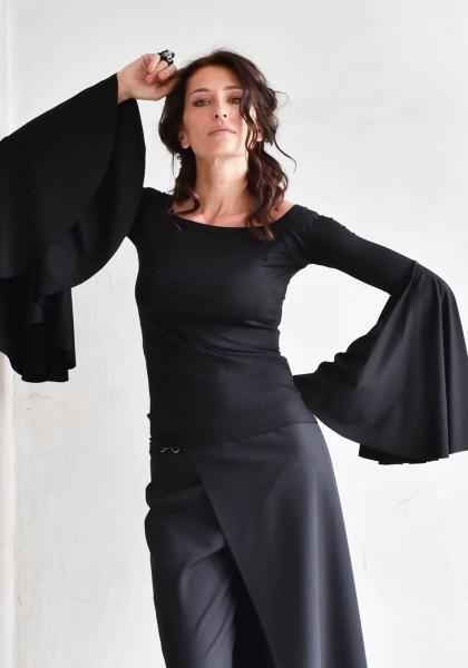 Flared Sleeves Elegant Blouse A90269