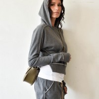 Short Hooded Sweatshirt A08754