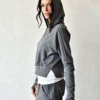 Short Hooded Sweatshirt A08754