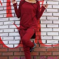 Asymmetric Zipper Sweatshirt A08310