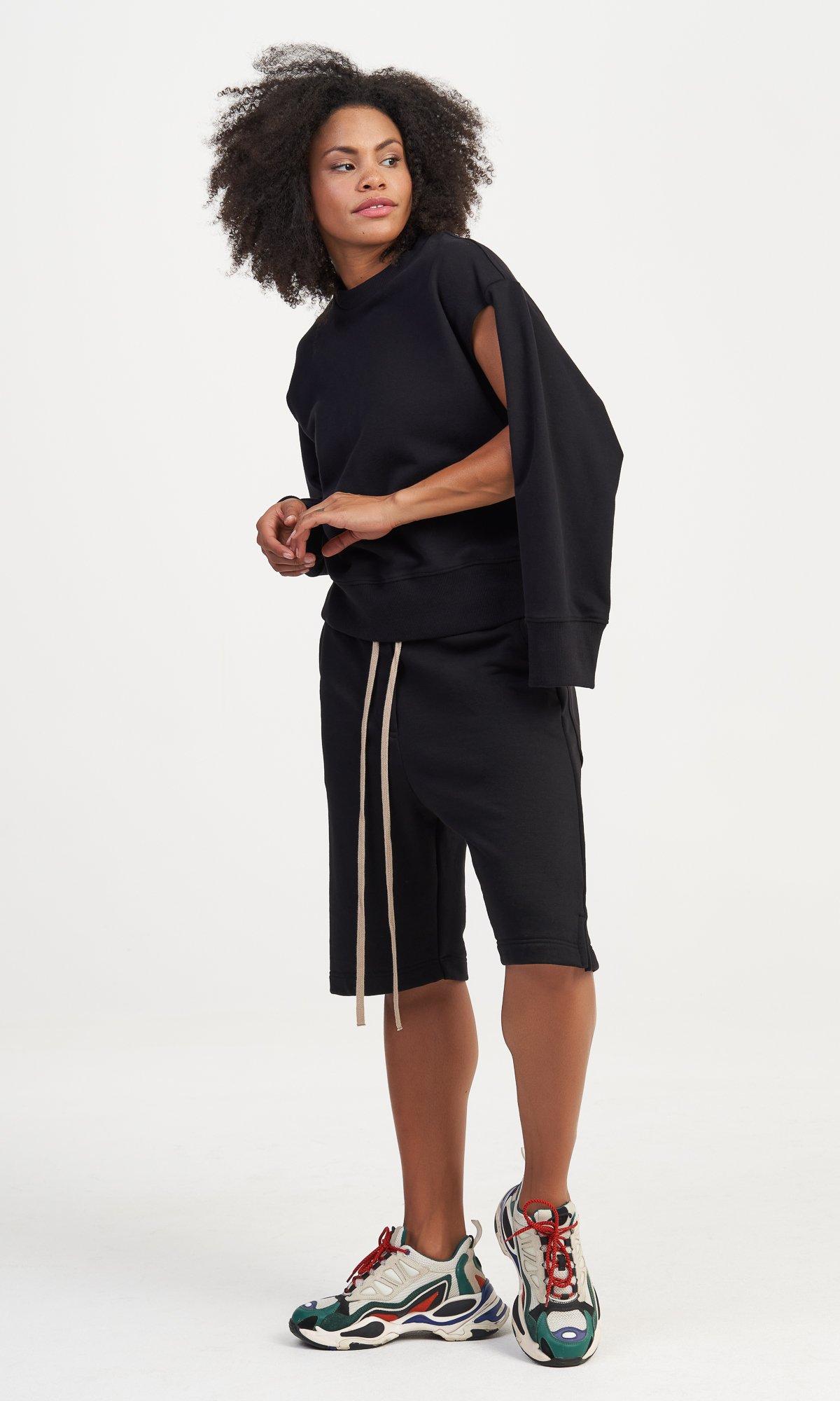 Multi Way Sleeves Sweatshirt