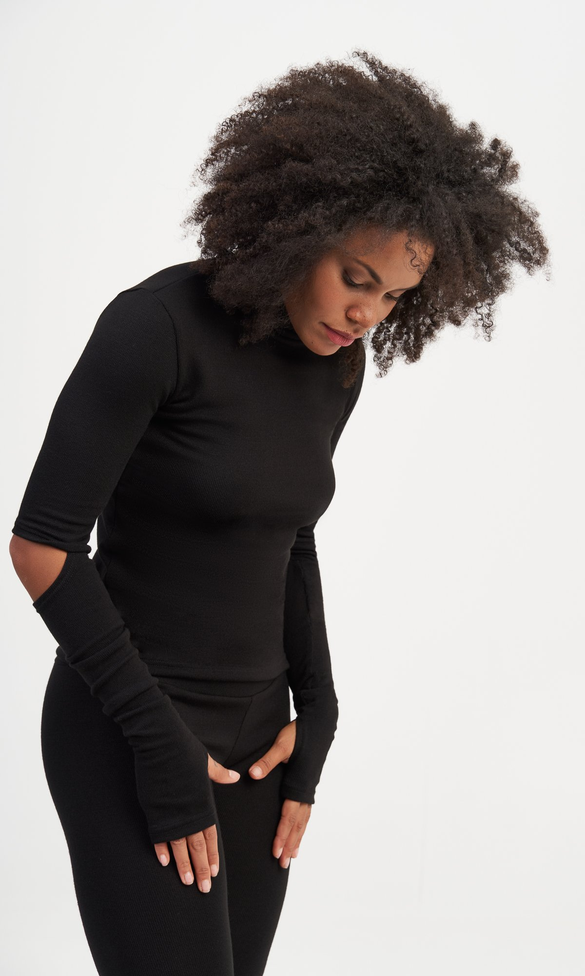 Knitted Open Elbows Top