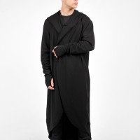 Oversize Knit Men cardigan with Leg Оpenings A06350M