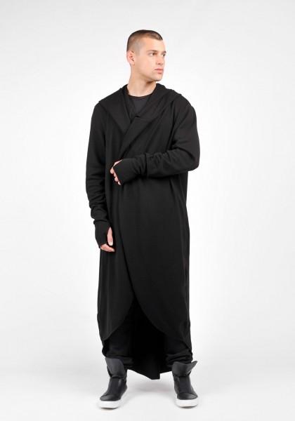 Oversize Knit Men cardigan with Leg Оpenings A06350M