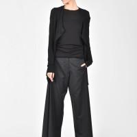 Short Buttoned Asymmetric Cardigan A06605