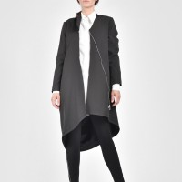 Extravagant Black Trench Coat A07260