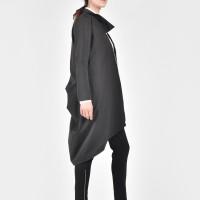 Extravagant Black Trench Coat A07260