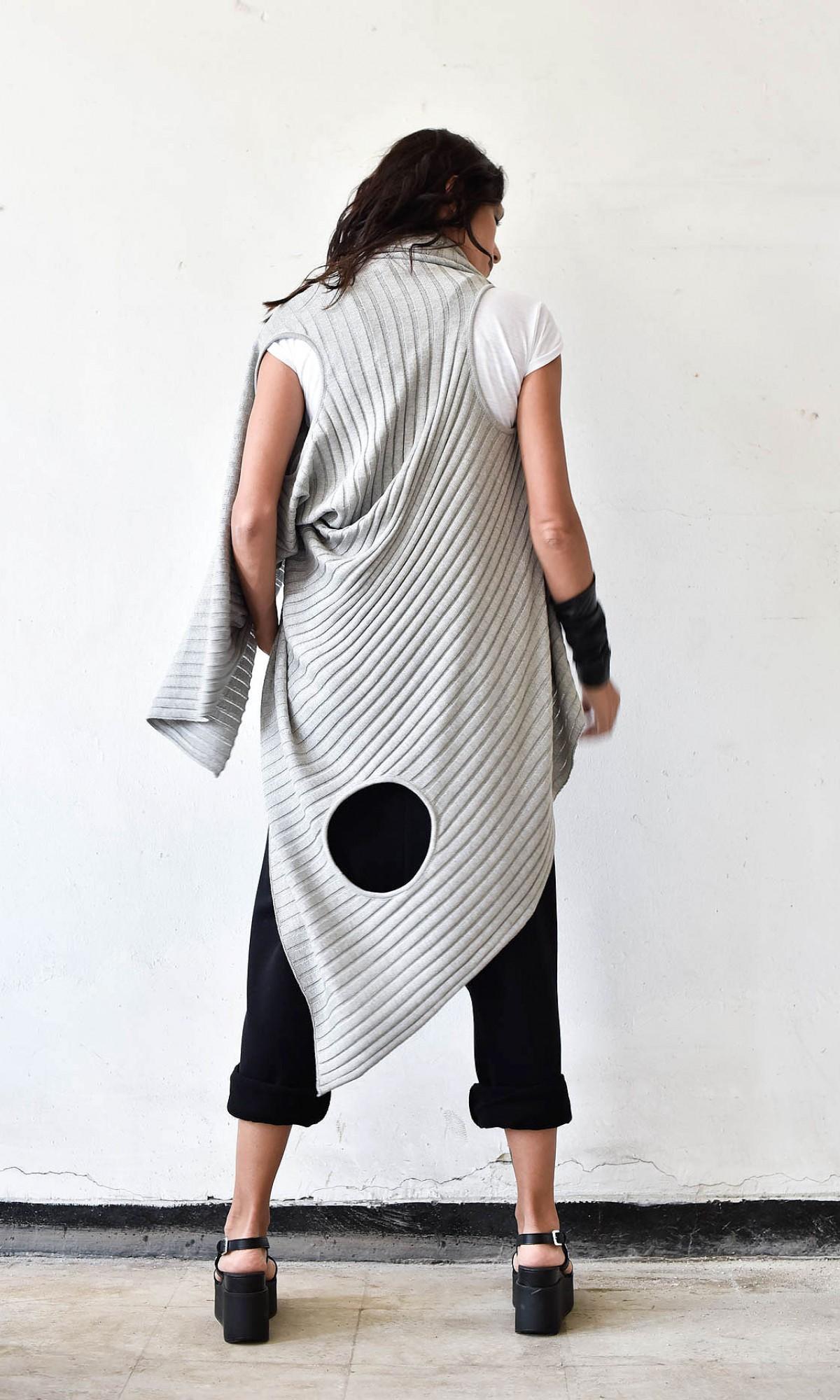 Asymmetric Multi-way Cardigan A06755