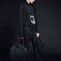 Oversize Asymmetric Hooded Cardigan A90401