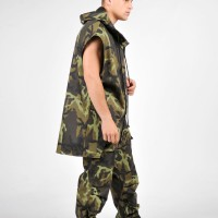 Military Cotton Sleeveless Coat A02237M