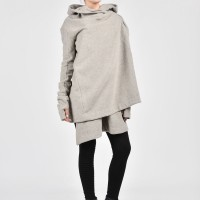 A Hooded Cashmere Long Sleeves Coat A06090