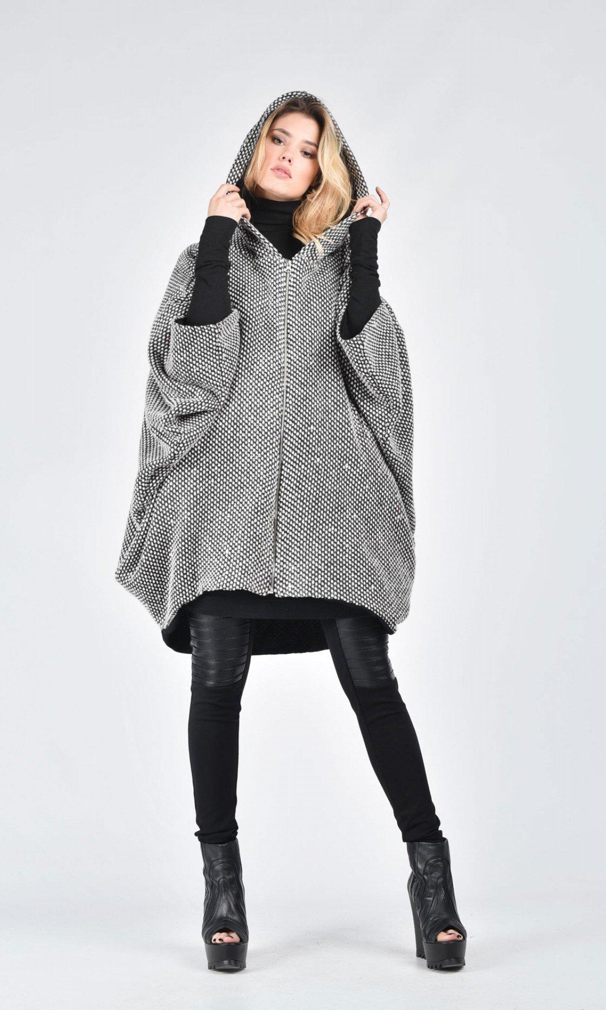 Oversize Grey Mid Sleeve Knit Vest A06381