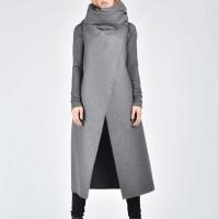 Soft Grey Sleeveless Coat A07086