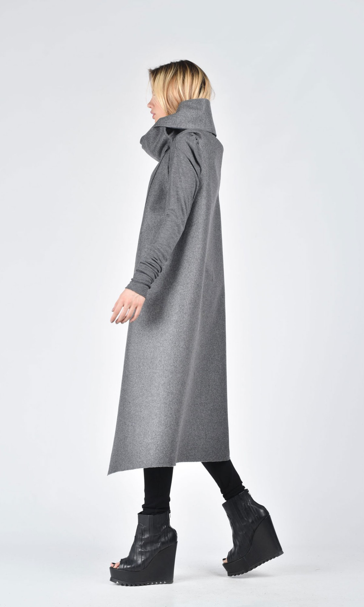 bd33ecc66414e Soft Grey Sleeveless Coat A07086 Soft Grey Sleeveless Coat A07086 ...