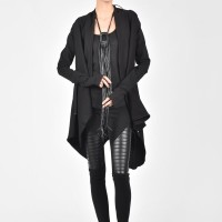 Black Cotton Coat A07098