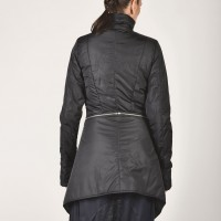 Winter Warm Asymmetric Extravagant Black Coat A07149