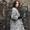 Leopard Pattern Straight Coat