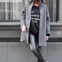 Elegant Straight Wool  Coat A07502