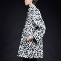 Leopard Pattern Straight Coat A07502