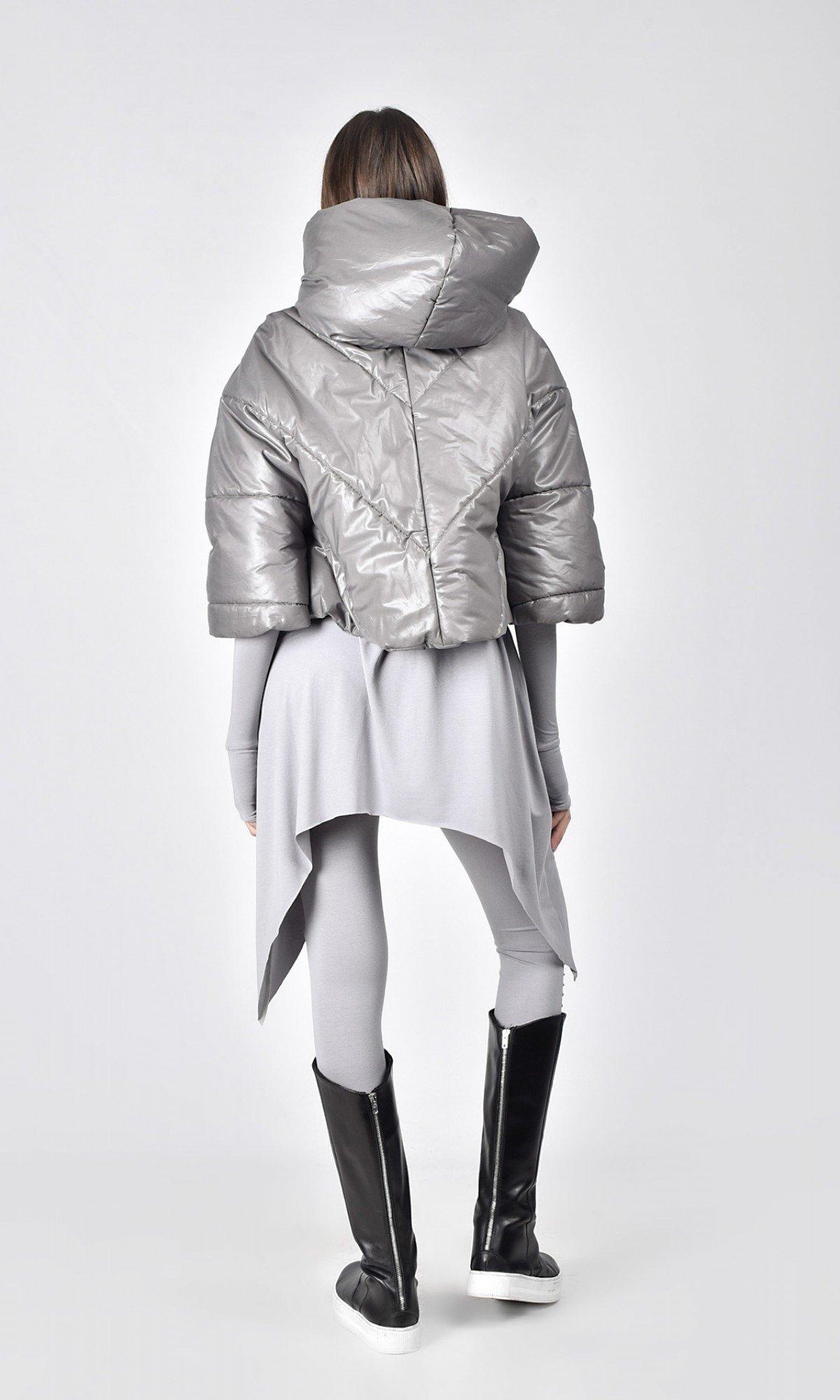 Short Extra Warm Hooded Coat A07578